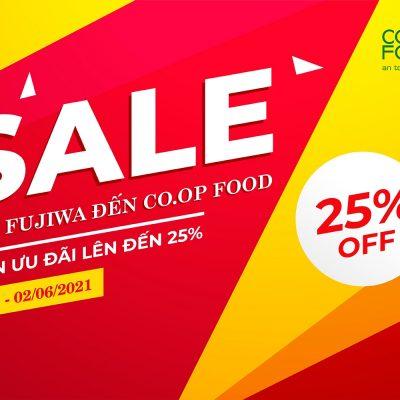 Giảm 25% khi mua nước ion Fujiwa qua Coop Food
