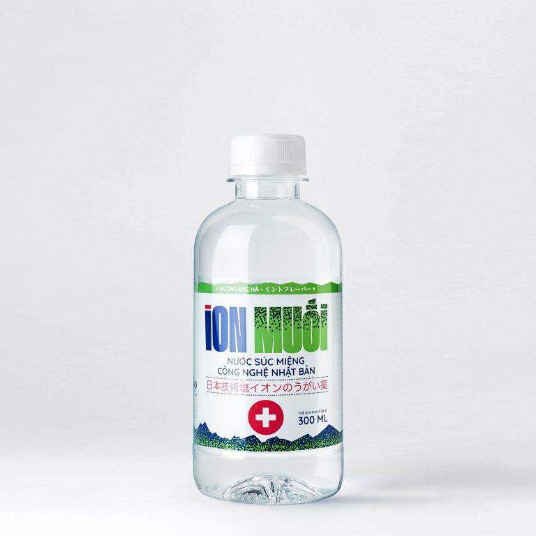 Nước súc miệng ion muối chai 300ml hương bạc hà